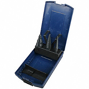 Step Drill Bit Set,HSS,1/8-1-1/8 In,3 pc