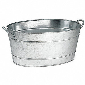 Beverage Tub, Oval, Steel,710 Oz