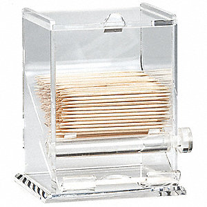 "3 3/8"" x 5"" Acrylic Toothpick Dispenser, Clear"