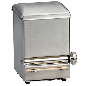 "Stainless Steel Toothpick Dispenser, Silver, 3"" x 4-1/4"""