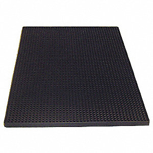 Rubber Service Mat, Black