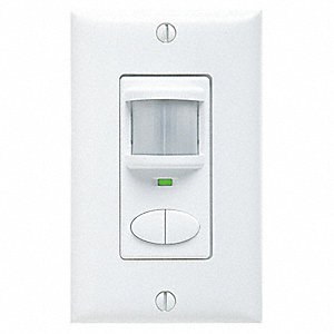 Dual Technology Occupancy Sensor, Sensor Type: Passive Infrared/Microphonic, Installation Type: Wall