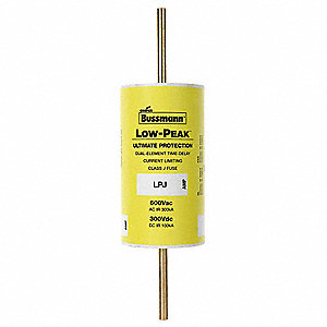 600A Time Delay Melamine Fuse with 600VAC/300VDC Voltage Rating&#x3b; LPJ Series