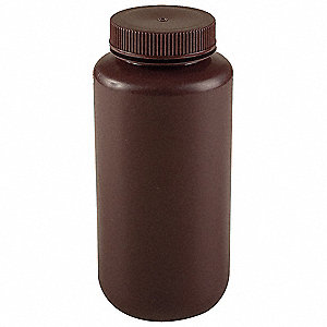 250mL/8 oz. Bottle, Wide Mouth, PK 12