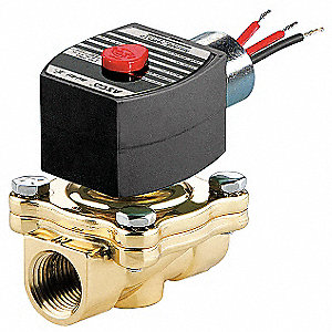 "24VDC Brass Solenoid Valve, Normally Closed, 2"" Pipe Size"