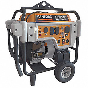 Electric Gasoline Portable Generator, 10,000 Rated Watts, 12,500 Surge  Watts, 120VAC/240VAC
