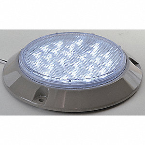 Dome Light,24 LED,4 In,Round,Clear