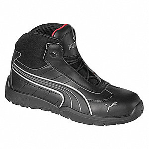 Athletic Work Boots,Stl,Mn,7,Blk,PR