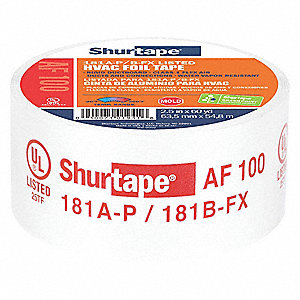 "Aluminum Foil Tape, Acrylic, 4.20 mil Thick, 2-1/2"" X 60 yd., Silver, 1 EA"