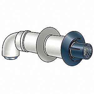 12 Inch Standard Termination Kit, Includes: 12 Inch Standard Horizontal Termination, 90 Degree Elbow