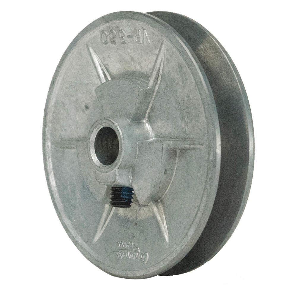"""Motor Pulley 5//8/"""" Bore x 3/"""" Dia Solid Cast Iron for V-Belt Set Screw Fixed Bore"""