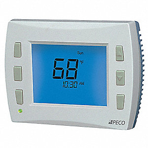 PECO Low Voltage Thermostat, Hardwired/Battery/Power-Stealing