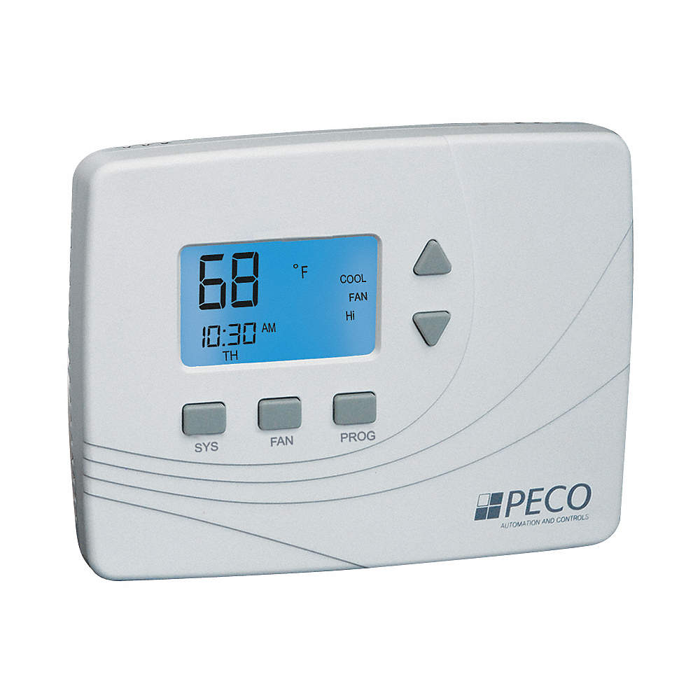 PECO Wireless Thermostat, Stages Cool 1, Stages Heat 1