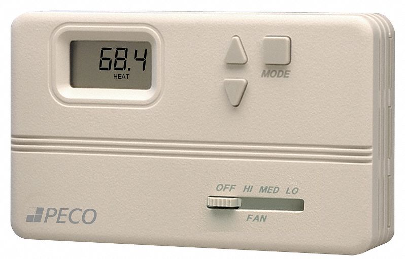 Fan Coil Thermostat,  Digital, Electronic,  Thermostat Control Range 50° to 90°F