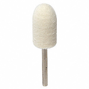 "Mounted Felt Bob, Bullet, Hard Density, 1/2"" Head Dia., 1"", MS-3"