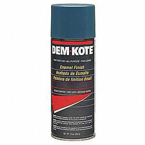 Dem-Kote Spray Paint in Gloss Ford Blue for Concrete, Masonry, Metal, Wood, 10 oz.