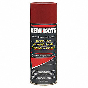 Dem-Kote Spray Paint in Gloss Safety Red for Concrete, Masonry, Metal, Wood, 10 oz.