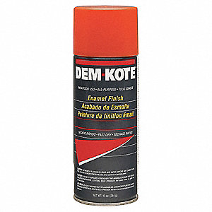 Safety Orange Spray Paint, Gloss Finish, 10 oz.