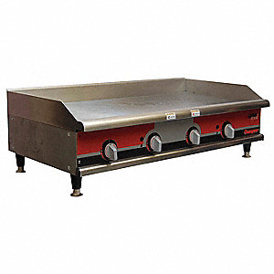 "24-7/8"" x 48"" x 15-1/2 Electric Countertop Griddle"