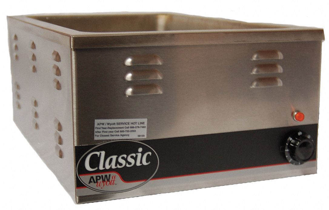 22 qt Stainless Steel Countertop Warmer