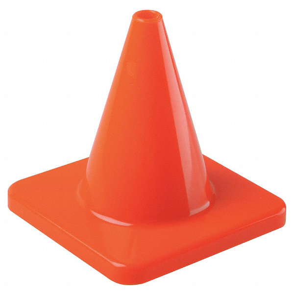 Grainger Approved Traffic Cone 6 Quot Cone Height Orange