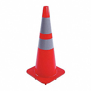 CONE SIGNALISATION,28PO H,ORANGE