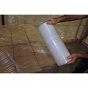 "15"" x 1500 ft. Polyethylene Hand Stretch Wrap, 80 Gauge, Clear, 1EA"
