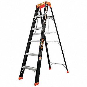 6 ft. 300 lb. Load Capacity Fiberglass Stepladder