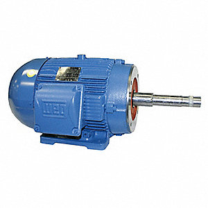 5 HP Close-Coupled Pump Motor,3-Phase,1755 Nameplate RPM,208-230/460 Voltage,184JP