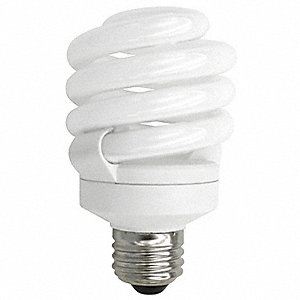 18.0 Watts  Screw-In CFL, T3, Medium Screw (E26), 1300 Lumens 2700K Bulb Color Temp.