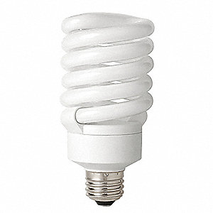 27 Watts  Screw-In CFL, T3, Medium Screw (E26), 1850 Lumens 2700K Bulb Color Temp.