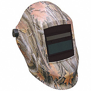 Auto Darkening Welding Helmet, Gray/Green/Orange, Trident w/ Impulse, 9 to 13 Lens Shade