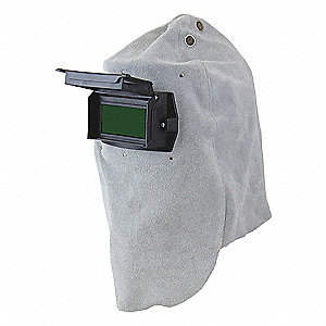 "Passive Welding Hood, 10 Lens Shade, 4.25"" x 2.00"" Viewing AreaGray"