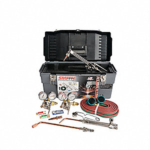 Heavy Duty Combination Torch Toolbox Outfit, SC209, 30-100-540 Oxygen, 30-15-510 Fuel, Acetylene Fue