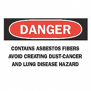 "Health Hazard, Danger, Plastic, 10"" x 14"", With Mounting Holes, Not Retroreflective"