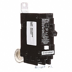 Bolt On Circuit Breaker, 25 Amps, Number of Poles:  1, 120VAC AC Voltage Rating
