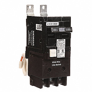 Bolt On Circuit Breaker, 30 Amps, Number of Poles:  2, 120/240VAC AC Voltage Rating