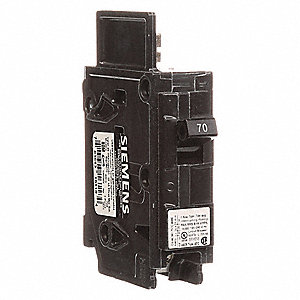 Bolt On Circuit Breaker, 70 Amps, Number of Poles:  1, 120/240VAC AC Voltage Rating
