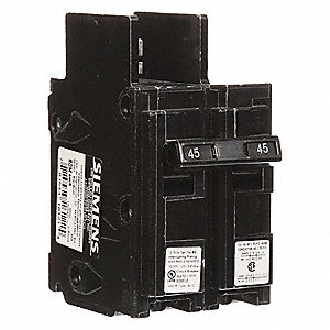 Bolt On Circuit Breaker, 45 Amps, Number of Poles:  2, 120/240VAC AC Voltage Rating