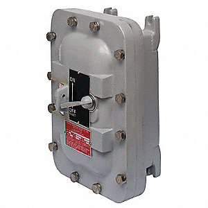 "Circuit Breaker Enclosure, Steel, 7, 9 NEMA Rating, 13.13"" Length, 9.60"" Width, 6.50"" Depth"