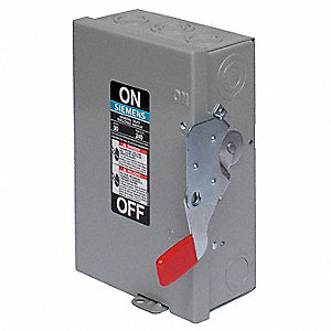 Safety Switch, 1 NEMA Enclosure Type, 30 Amps AC, 3 HP @ 240VAC HP