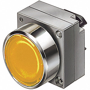 Illum Push Button Operator,22mm,Amber