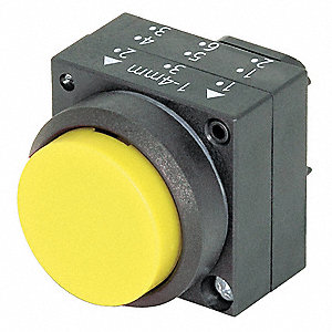 Plastic Push Button Operator, Type of Operator: Extended Button, Size: 22mm, Action: Momentary Push