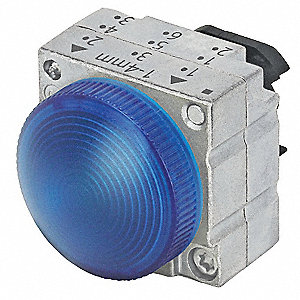 Pilot Light,Blue,22mm,Round,Metal