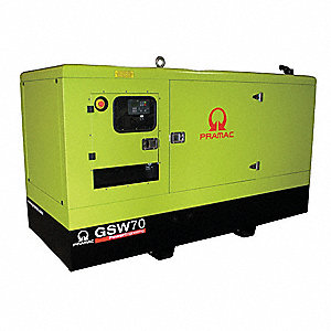 Liquid Engine Cooling, 277/480VAC Voltage, Engine Size: 3.3L, 80 kVA Rating, 3 Phase