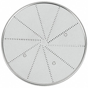 "6 1/2"" x 6 1/2"" x 6 3/4"" 2 mm Stainless Steel Fine Grate Disc&#x3b; For 6FTH8, 6FTH9"
