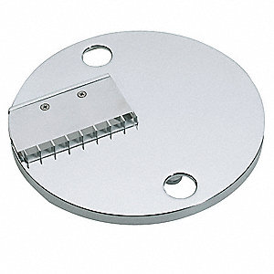 "6 1/4"" x 6 1/4"" x 3"" 2 x 4 mm Stainless Steel Julienne Disc; For 6FTJ0"