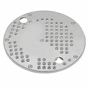 "6 3/4"" x 6 3/4"" x 4"" .4 mm Stainless Steel Grating Disc; For 6FTJ0"
