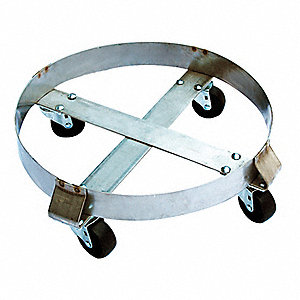 Drum Dolly,800 lb.,6-1/2 In H,30 gal.