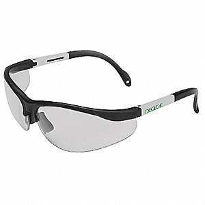 Decade Bio  SS Scratch-Resistant Safety Glasses, Clear Lens Color